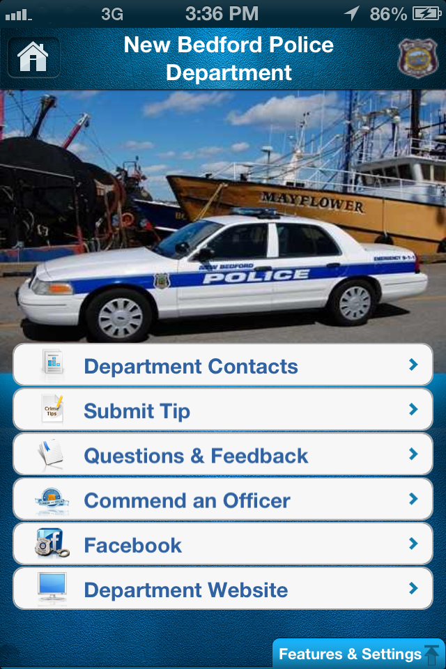 newbedford app screen